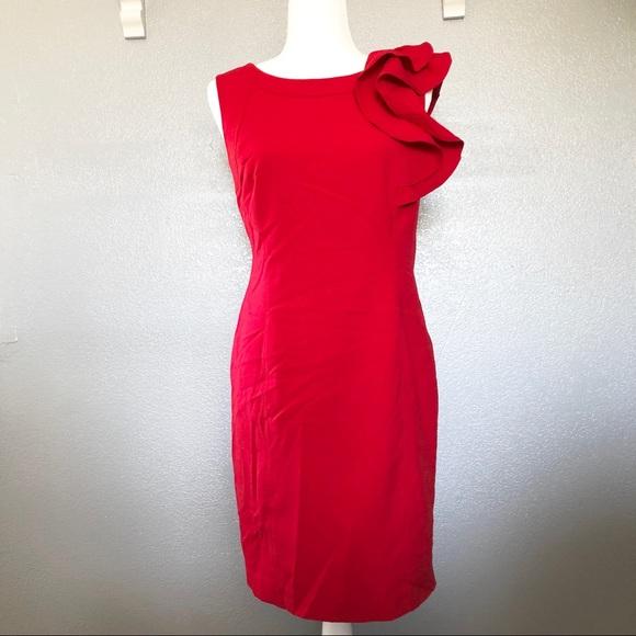 Calvin Klein Dresses & Skirts - NEW Calvin Klein Red Cocktail Dress sz 12P